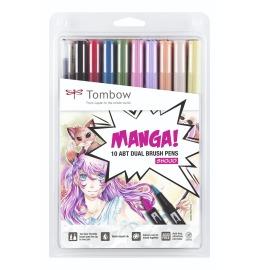 Dual Brush Pen Manga-Set Shojo Etui