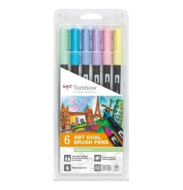 ABT Dual Brush Pen 6er Set Pastellfarben