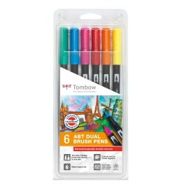 ABT Dual Brush Pen 6er Set Dermatologisch