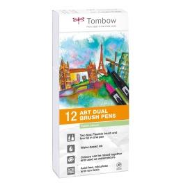 ABT Dual Brush Pen 12er Set Pastelltöne