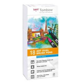ABT Dual Brush Pen 18er Set Grundtöne I