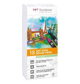 ABT Dual Brush Pen 18er Set Pastelltöne