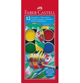 Aquarellfarbkasten inkl. Pinsel 12 Farben