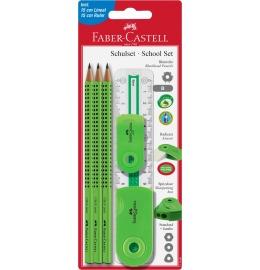Bleistift-Set GRIP Sleeve Set hellgrün m/Lineal