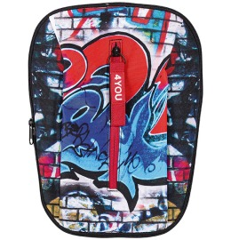 Change Frontflap 25, Graffiti 30x20x2cm red/blue