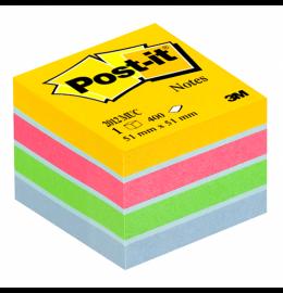 Mini Cube 51x51mm 4 Farben ass. 1x400 Blatt