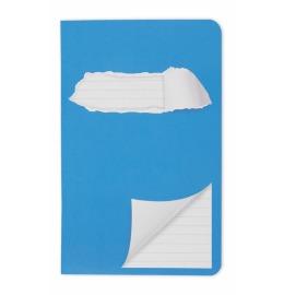 Schulheft 11x17,5cm liniert blau