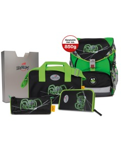 Ergoflex XL Green Spider 5-teiliges Set