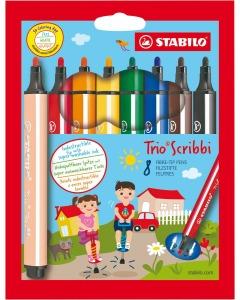 Trio Scribbi Fasermaler 8er Etui