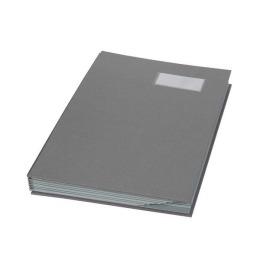 Unterschriftenmappe A4 dunkelgrau, Reg.1-10 240x340mm