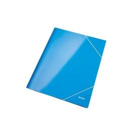 Eckspannermappe WOW A4 blau metallic