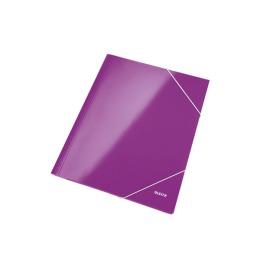 Eckspannermappe WOW A4 violett metallic