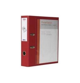 Bundesordner Creative 7cm rot, mit Sichttasche A4