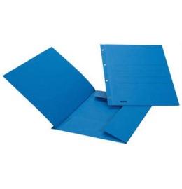 Ösen-Aktensammler A4 blau, 3 Klappen 90 Bl.