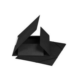 Gummibandmappe A4 schwarz, 590gm2 220 Bl.