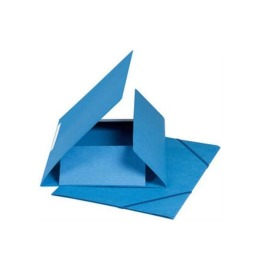 Gummibandmappe A4 blau, 590gm2 220 Bl.