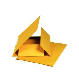 Gummibandmappe A4 gelb, 590gm2 220 Bl.