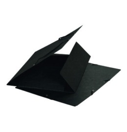 Gummibandmappe A4 schwarz,355gm2 200 Bl.