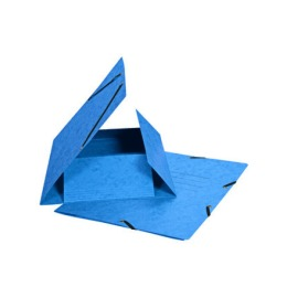 Gummibandmappe A4 blau, 355gm2 200 Bl.