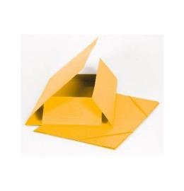 Gummibandmappe A4 gelb, 355gm2 200 Bl.