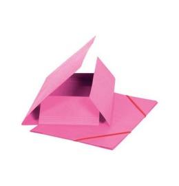 Gummibandmappe A4 rosa, 355gm2 200 Bl.