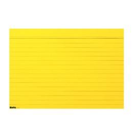 Karteikarten A6 gelb, liniert 100 Stk.