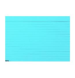 Karteikarten A7 blau, liniert 100 Stk.