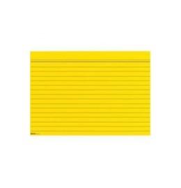 Karteikarten A7 gelb, liniert 100 Stk.