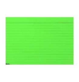 Karteikarten A7 grün, liniert 100 Stk.