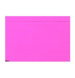 Karteikarten A7 rosa, liniert 100 Stk.