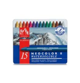 Wachspastelle Neocolor II 15-farbig assortiert