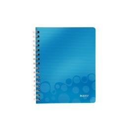 Spiralbuch WOW A5 kariert blau metallic