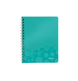 Spiralbuch WOW A5 kariert eisblau metallic