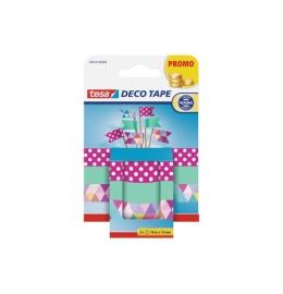 Washi Tape Deco Tape 3 Rollen, multicol. 15mmx10m