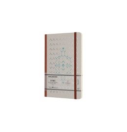 Notizbuch Time L/A5 blanko,Hardcover,braun