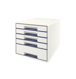 Schubladenbox WOW Cube A4 weiss/grau, 5 Schubladen