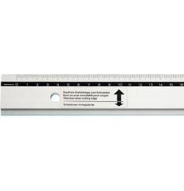 Zeichen-Schneidelineal 50cm Alu