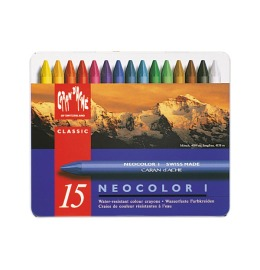 Wachsmalstift Neocolor 1 15 Farben Metallbox