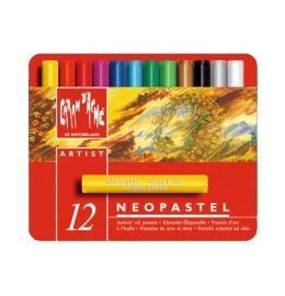 Wachsmalstift Neopastel 12 Farben Karton