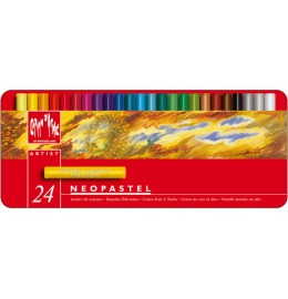 Wachsmalstift Neopastel 24 Farben Karton