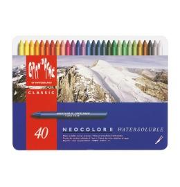 Wachsmalstift Neocolo II 40 Farben ass. Metallbox